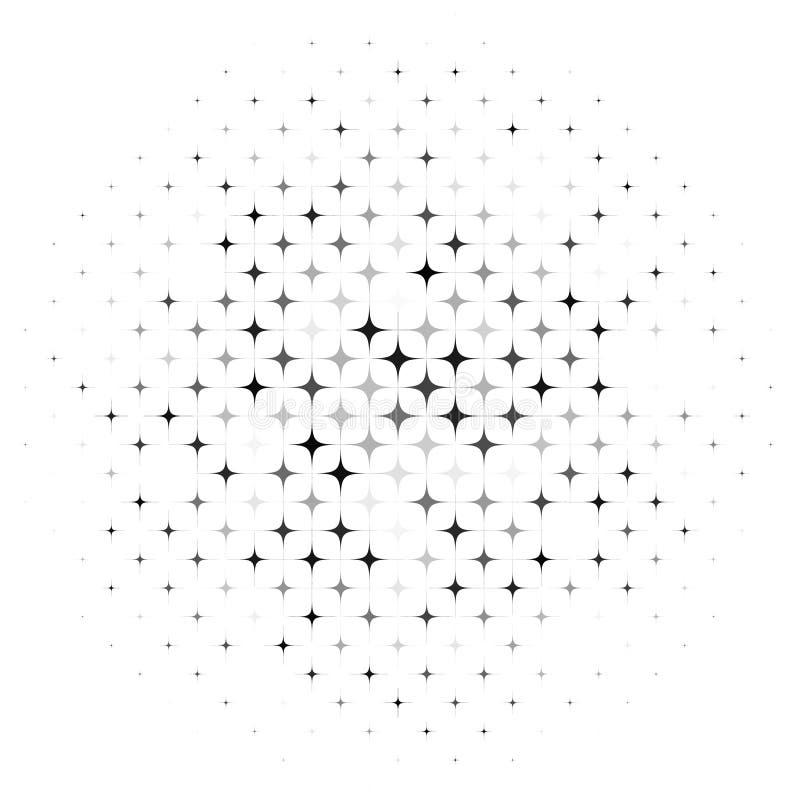 抽象背景星形 向量例证