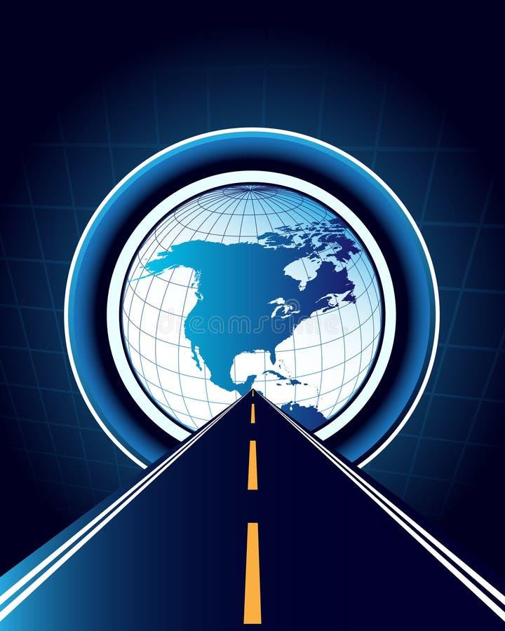抽象背景映射路世界 库存例证