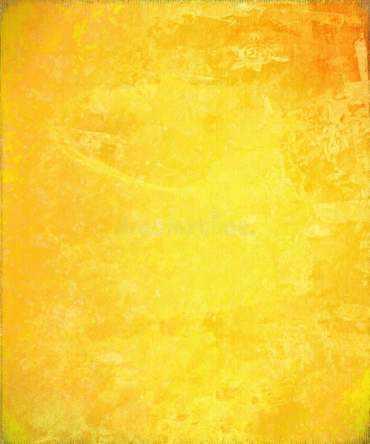 抽象背景晴朗的黄色 皇族释放例证