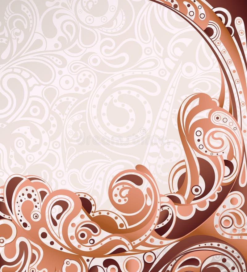 抽象背景曲线 向量例证