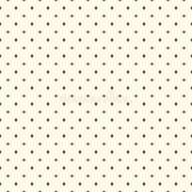 抽象背景最低纲领派 与微型十字架的简单的现代印刷品 与几何图的无缝的样式 库存例证