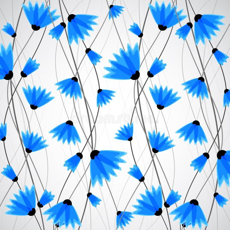 抽象背景本质 蓝色矢车菊 皇族释放例证