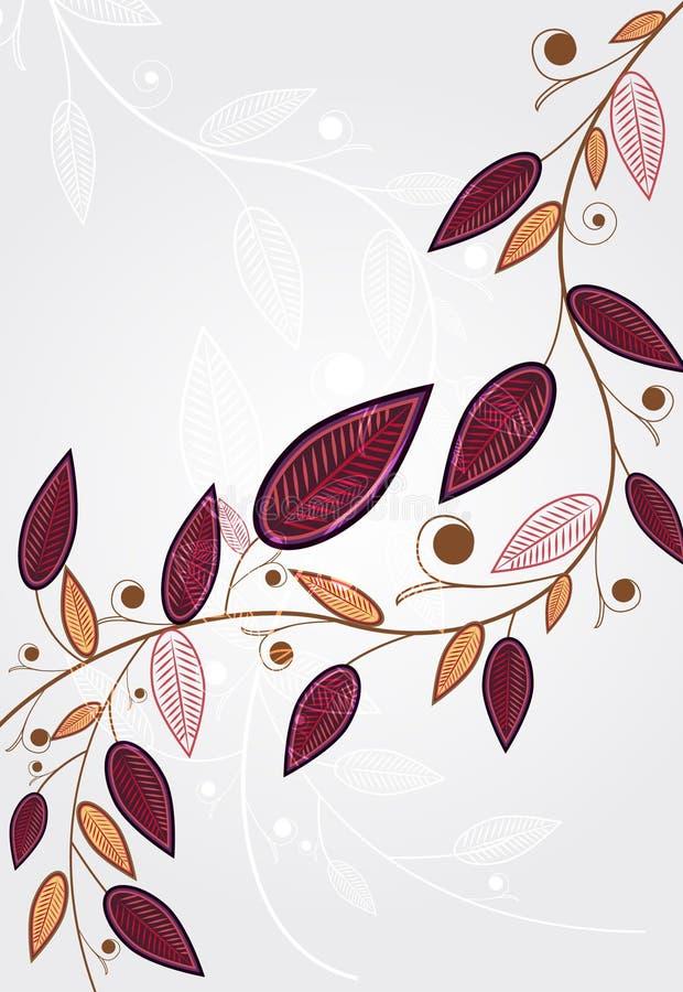 抽象背景柔和的叶子 向量例证
