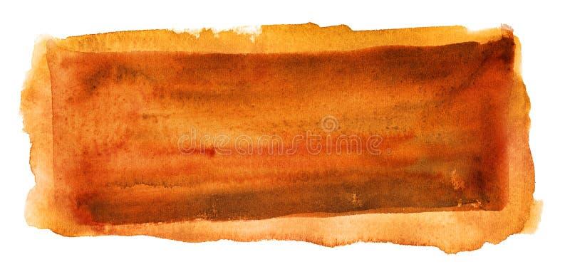 抽象背景查出的橙色水彩 库存图片
