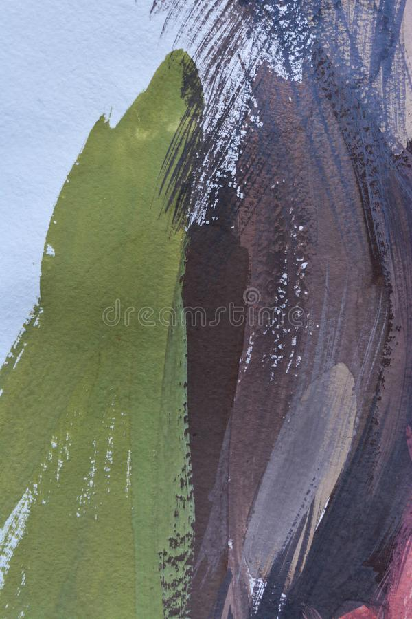 抽象背景树胶水彩画颜料绘画,手画纹理,飞溅,下降油漆,油漆污迹 库存例证