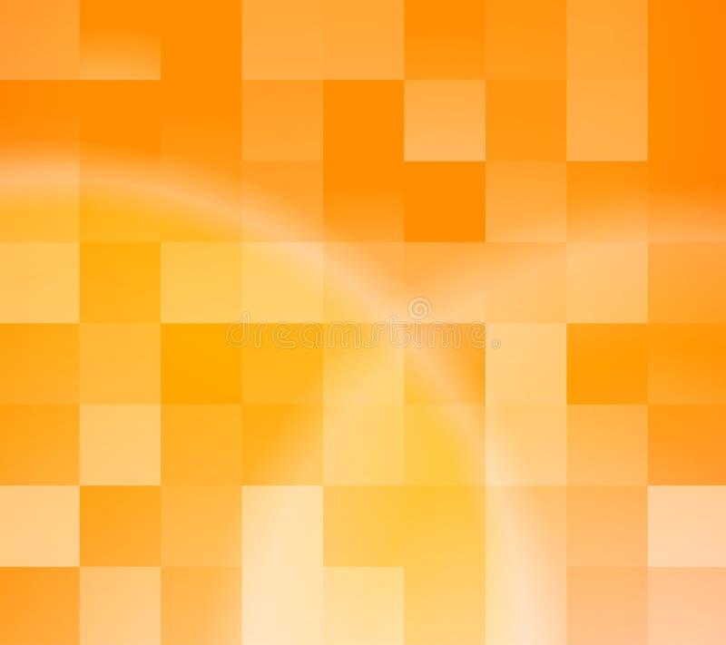 抽象背景桔子瓦片 向量例证