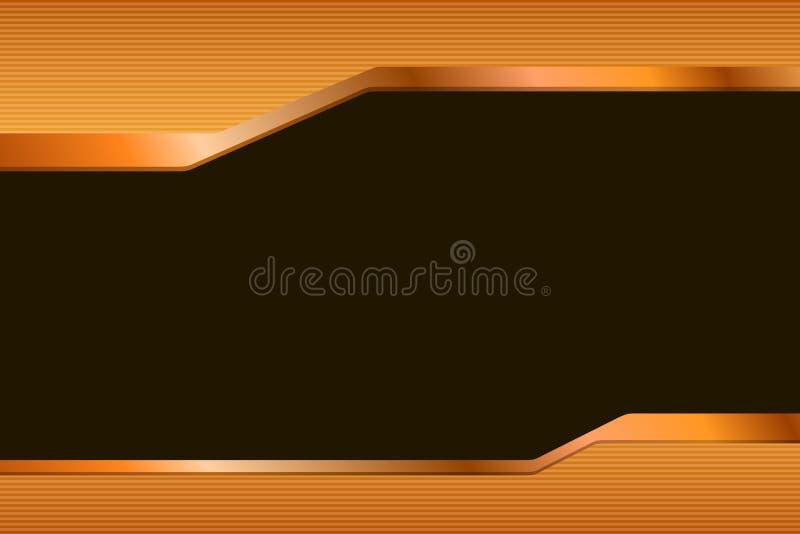 抽象背景梯度橙黄色黑色排行小条例证 库存例证