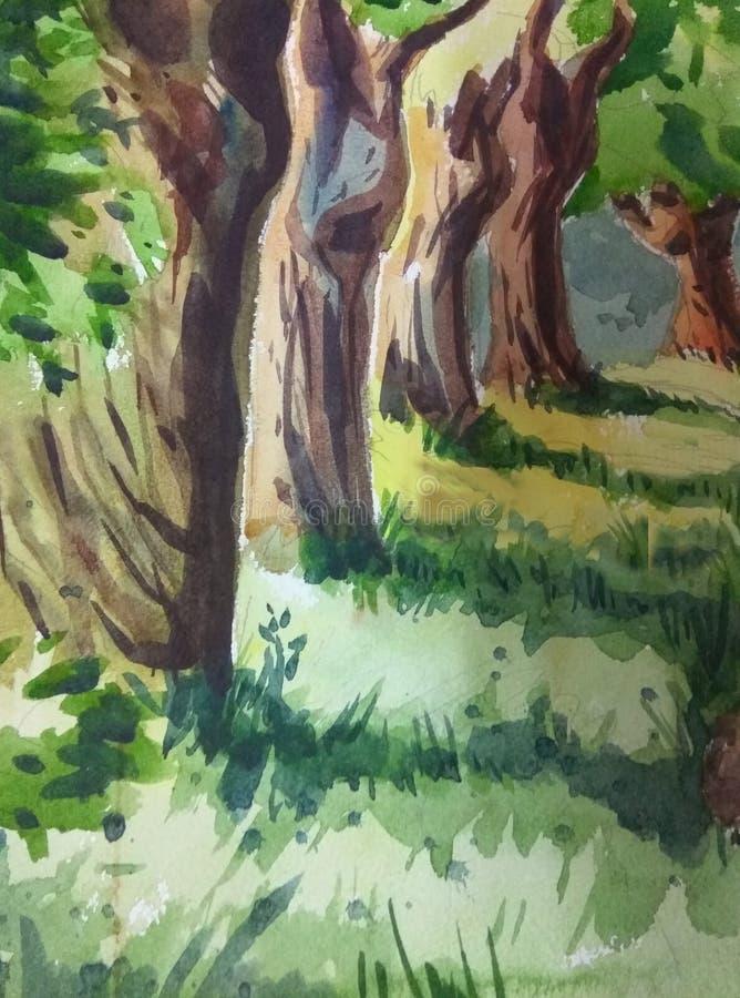 抽象背景森林 向量例证