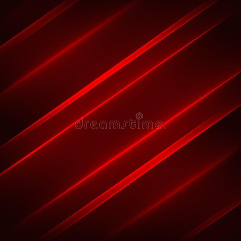 抽象背景模式 在深红背景的明亮的红色对角线 向量例证