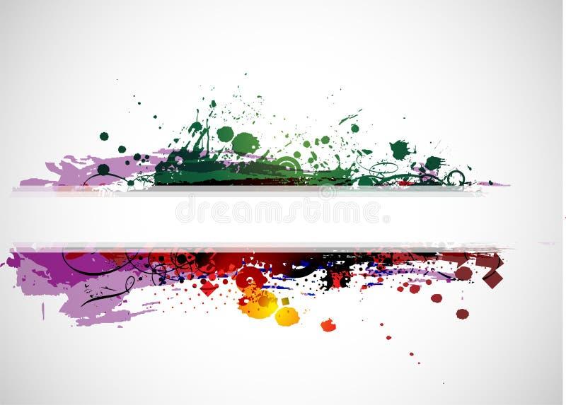 抽象背景横幅五颜六色的grunge 皇族释放例证