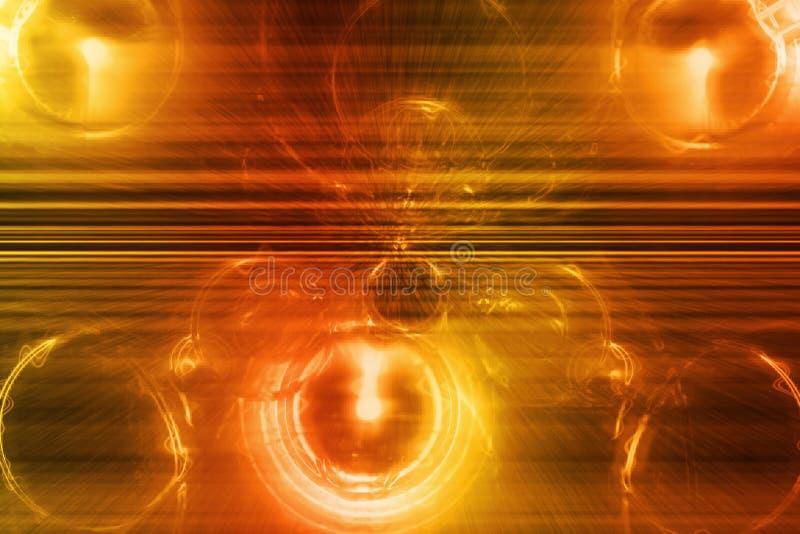 抽象背景橙色超新星墙纸 向量例证