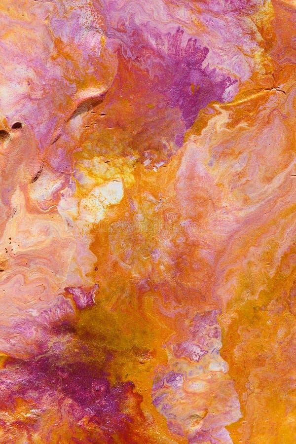 抽象背景橙色洋红色 向量例证