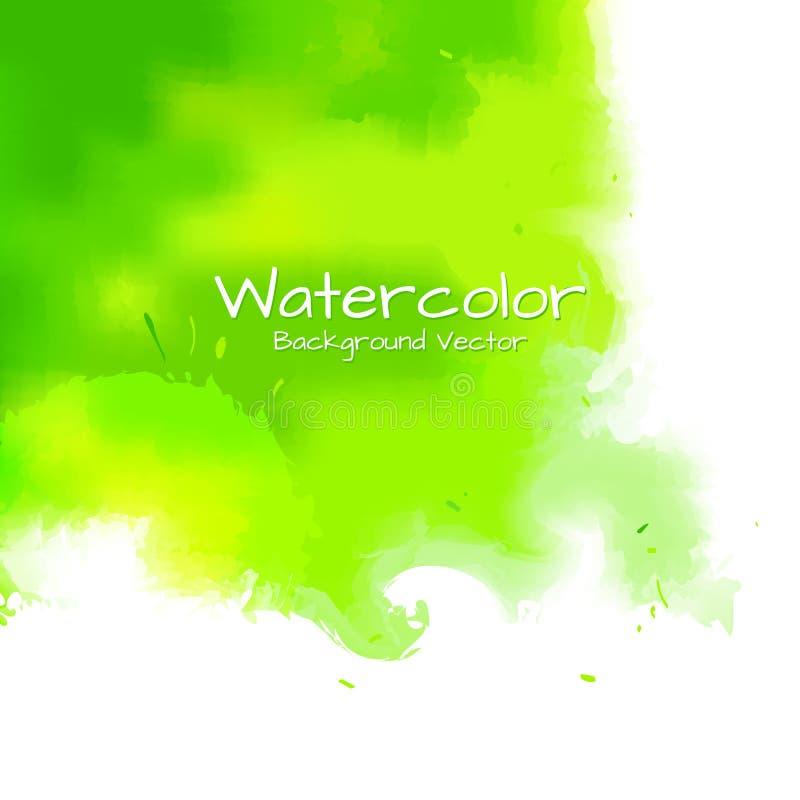 抽象背景水彩绘画 向量例证