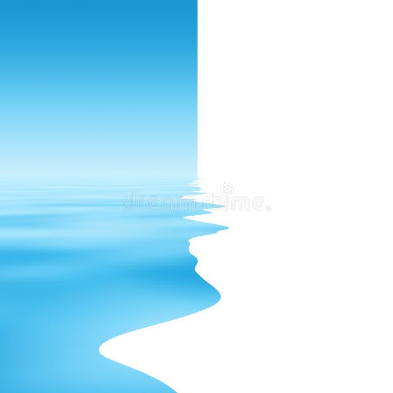 抽象背景水 向量例证