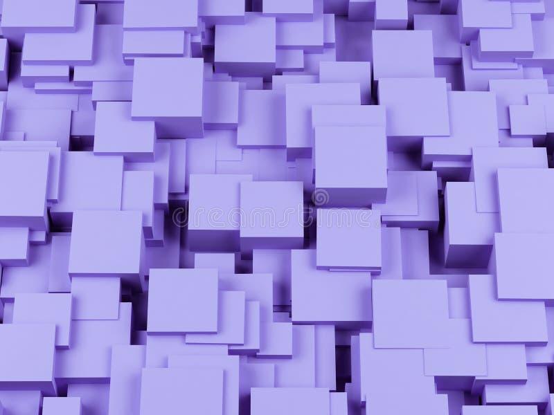 抽象背景求图象的立方 3回报 向量例证
