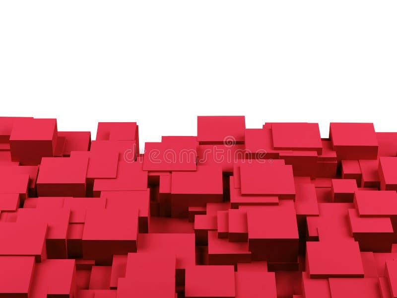 抽象背景求图象的立方 3回报 皇族释放例证