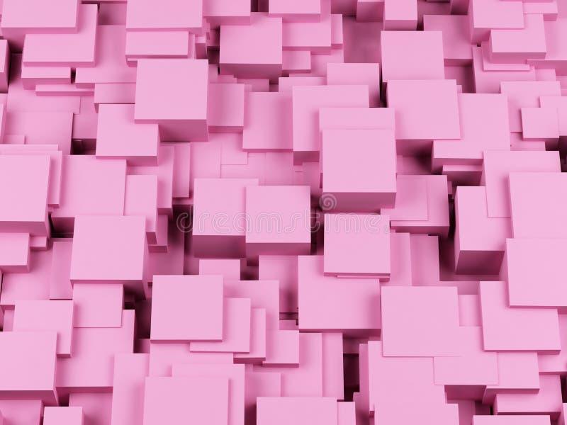 抽象背景求图象的立方 3图象 库存例证