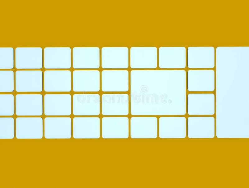 抽象背景求图象的立方 向量例证
