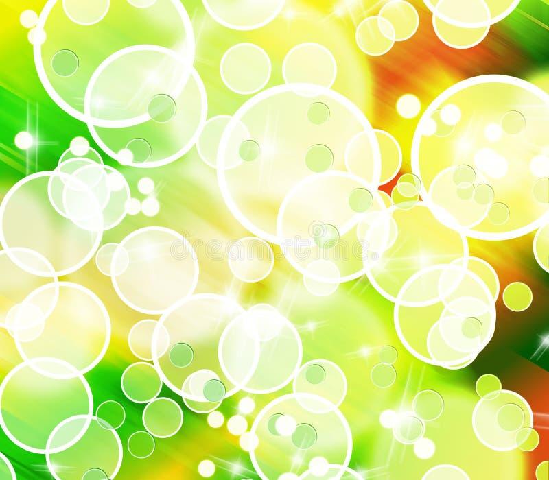 抽象背景泡影五颜六色的形状 库存例证