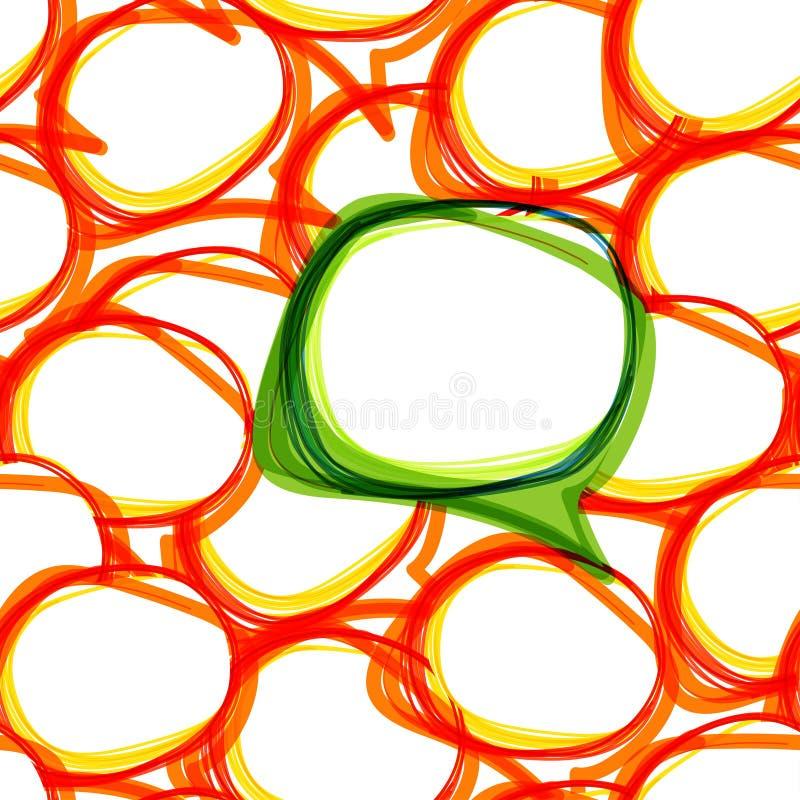 抽象背景泡影联系 向量例证