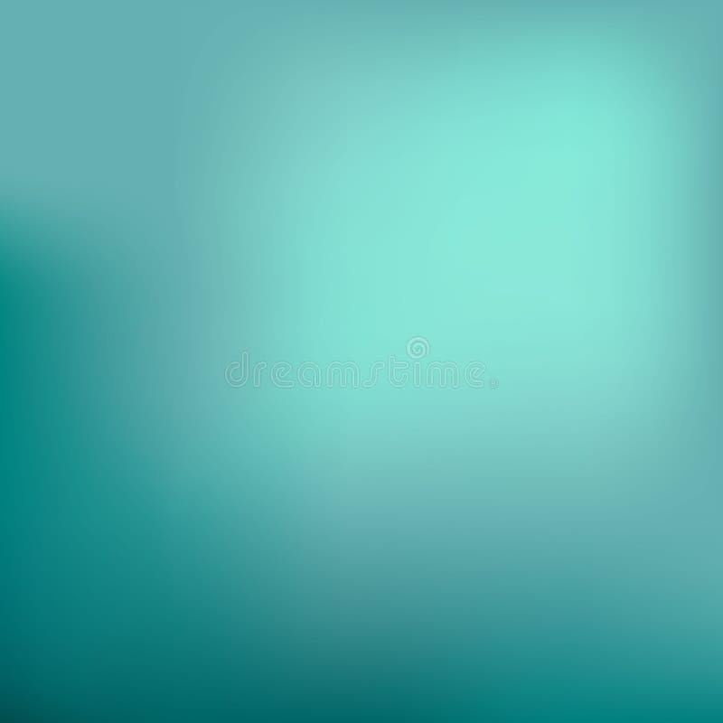 抽象背景深青色 被弄脏的绿松石水背景 光滑的横幅模板 容易的编辑可能的软性色的传染媒介例证 库存例证