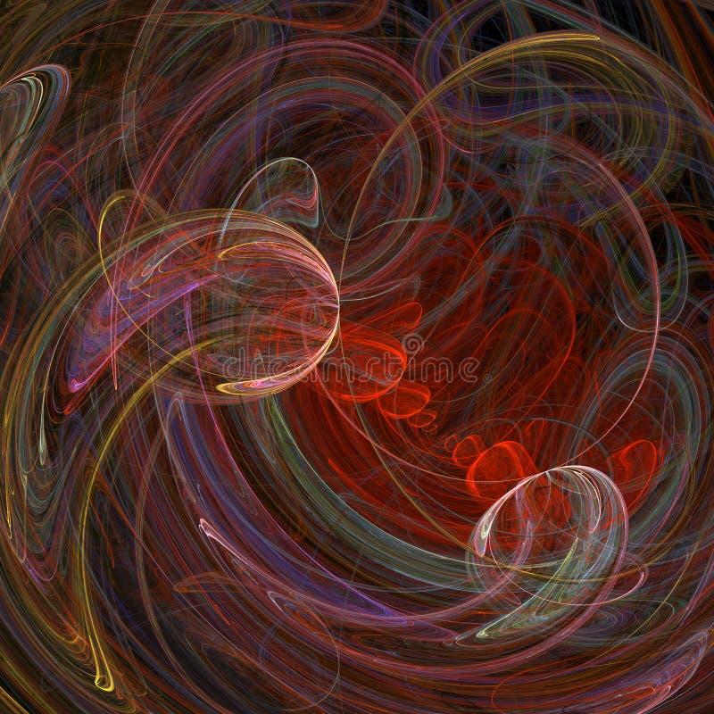 抽象背景漩涡 向量例证