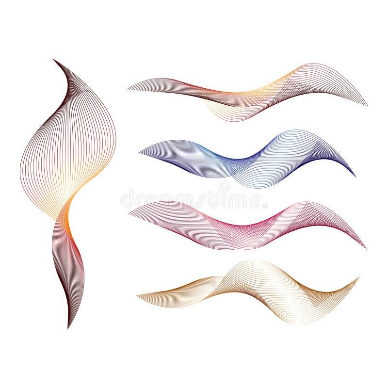 抽象背景漩涡 库存例证