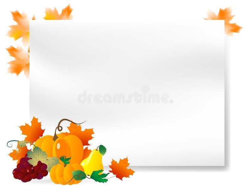 Download 秋天纸 向量例证. 插画 包括有 南瓜, 秋天, 概念, 看板卡, 环境, 国界的, 安排, 框架, 红色 - 30337894