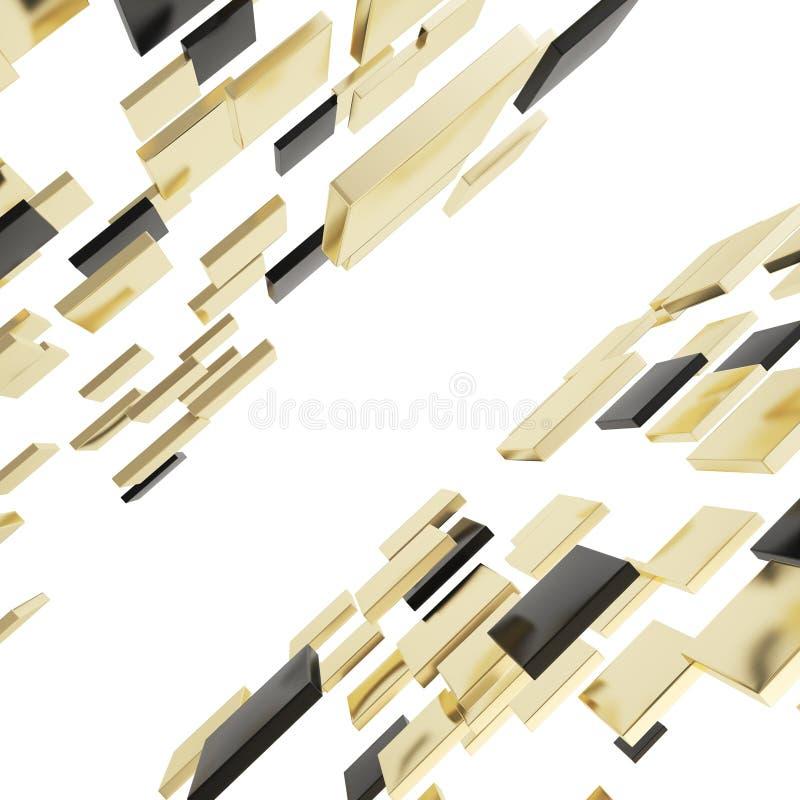 抽象背景由光滑的方形的板材制成 库存例证