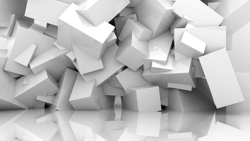 抽象背景白色 库存例证
