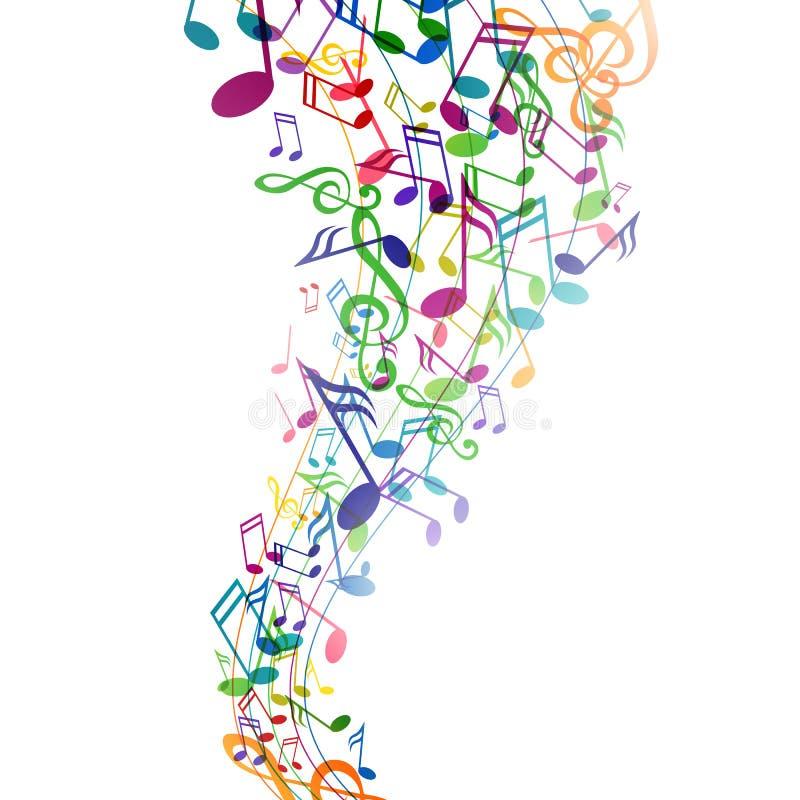 五颜六色的Musicnotes 库存图片