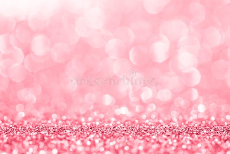 抽象背景的桃红色闪烁 库存图片