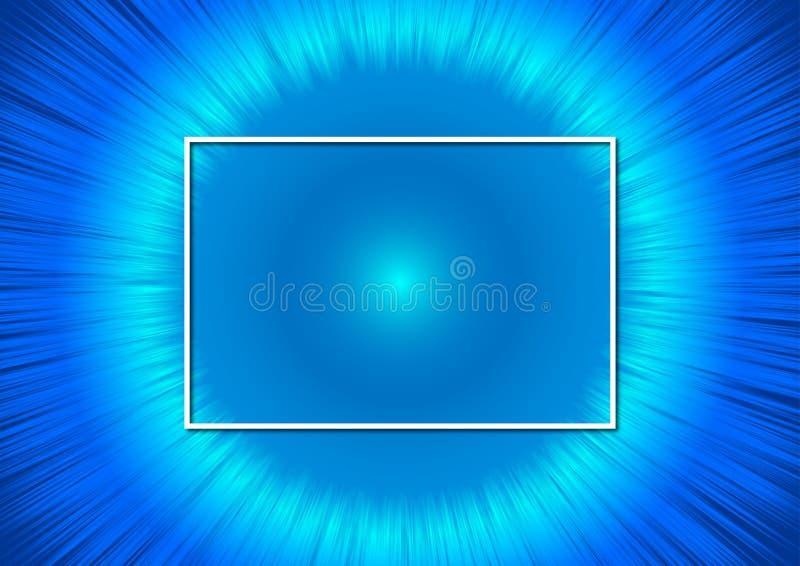 抽象背景的现代光亮的蓝色流程 皇族释放例证