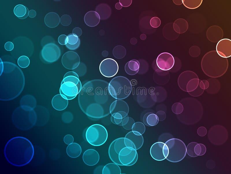 抽象背景盘旋五颜六色的舍入 向量例证