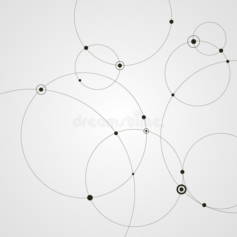 抽象背景盘旋小点 3d概念连接数齿轮机构 也corel凹道例证向量 皇族释放例证