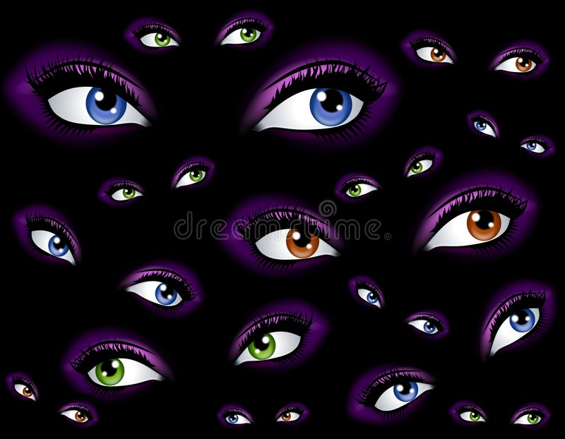 抽象背景眼睛注意 库存例证