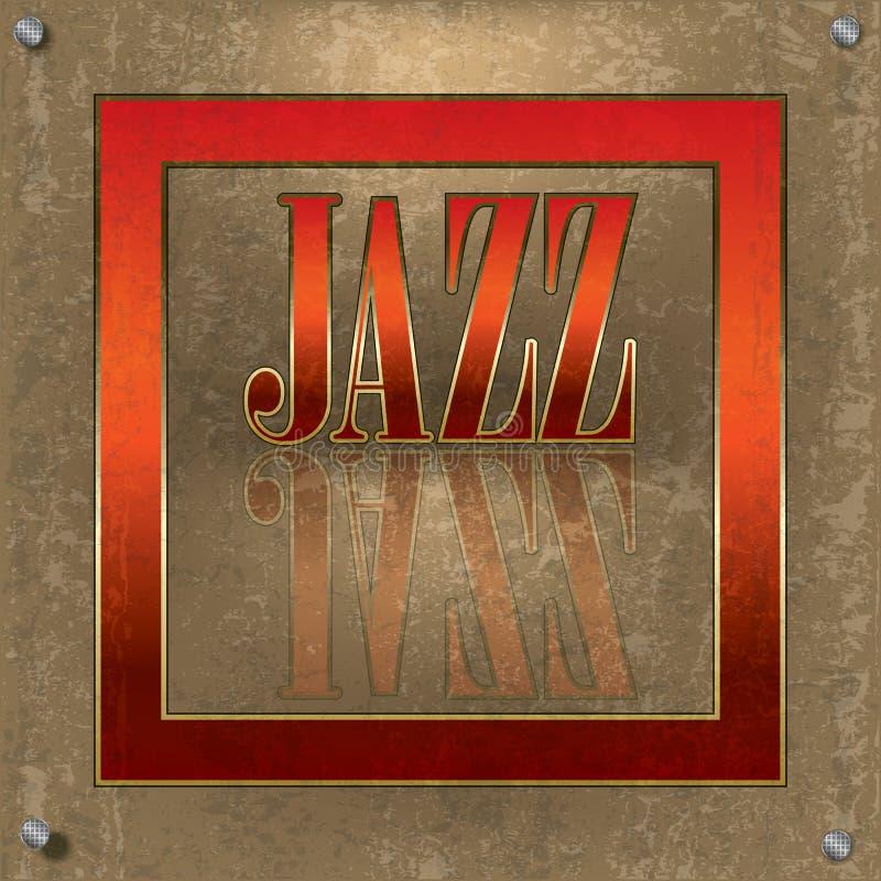 抽象背景破裂的爵士乐字 向量例证