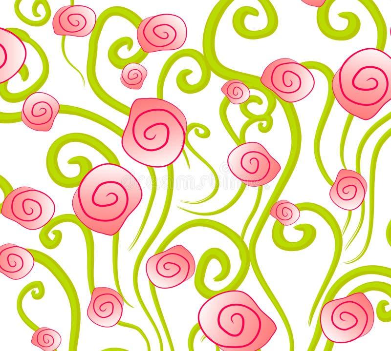 抽象背景粉红色玫瑰 向量例证