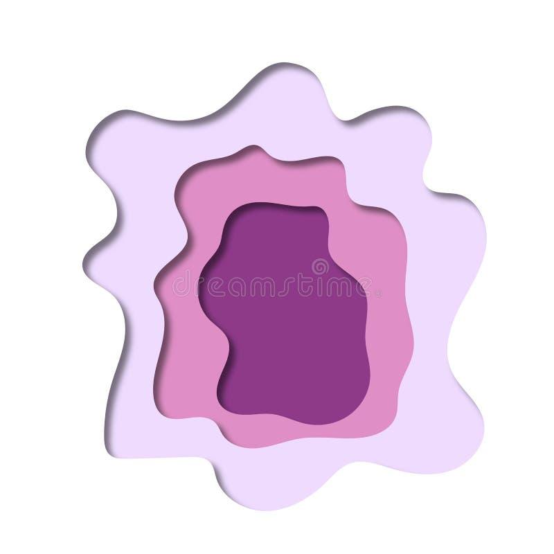 抽象背景紫罗兰 库存例证