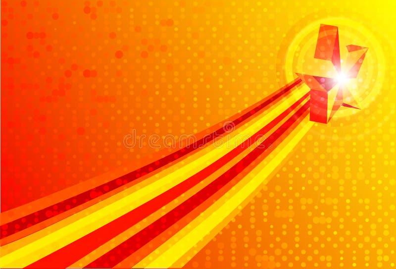 抽象背景红色向量黄色 皇族释放例证