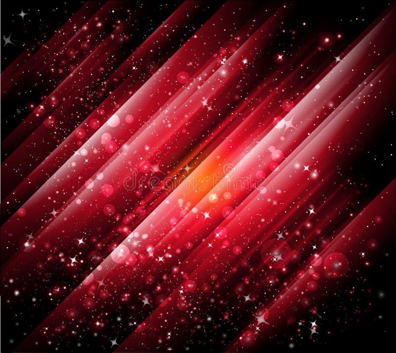 抽象背景红色向量 库存例证