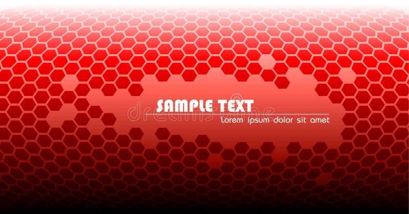 抽象背景红色技术 向量例证