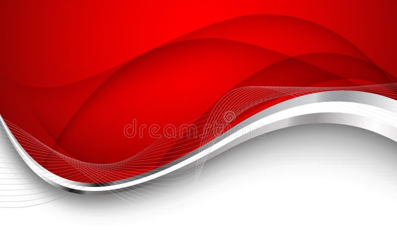 抽象背景红色 也corel凹道例证向量 图库摄影