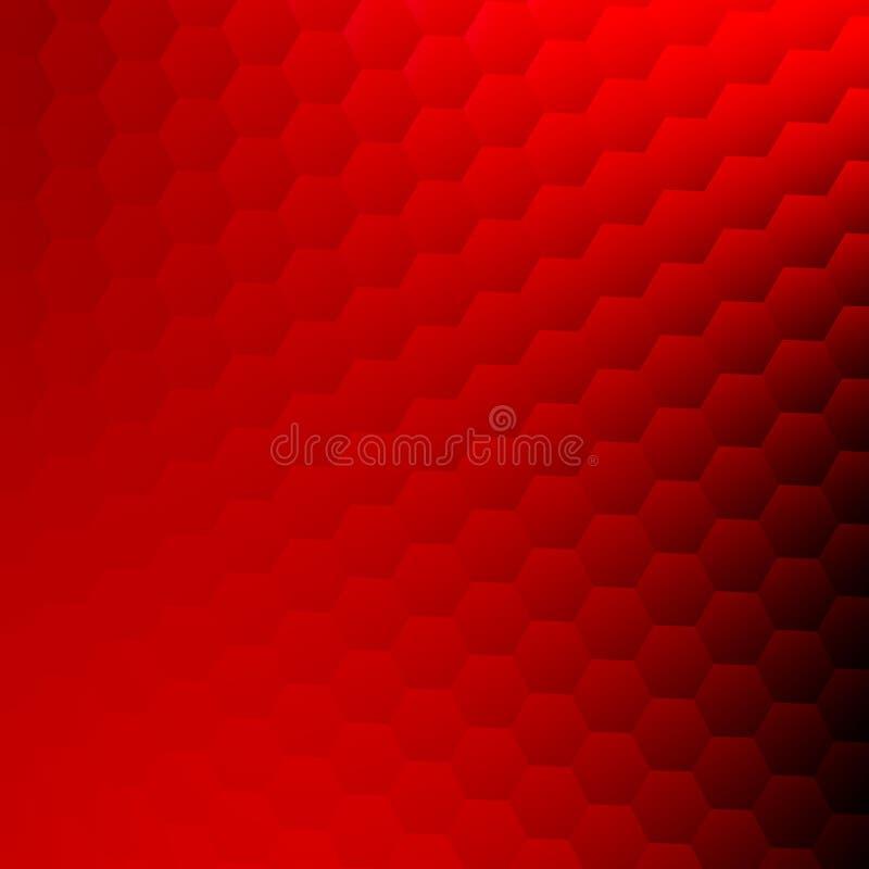 抽象背景红色 网站墙纸设计 现代简单的名片纹理 六角形的几何样式 库存例证