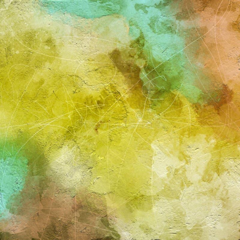 抽象背景纹理 难看的东西纹理,水彩绘画 向量例证