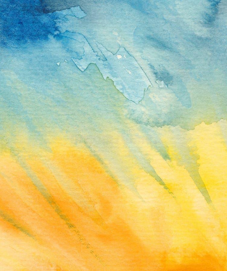 抽象背景绘画水彩 库存例证