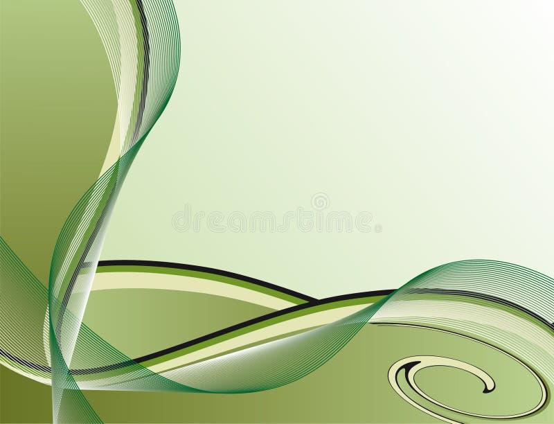 抽象背景绿色数据条 皇族释放例证