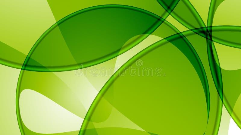 抽象背景绿色模板 库存例证