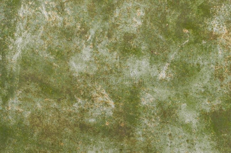 抽象背景绿色 混凝土或金属表面 免版税库存图片