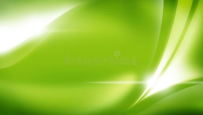 抽象背景绿色 向量例证